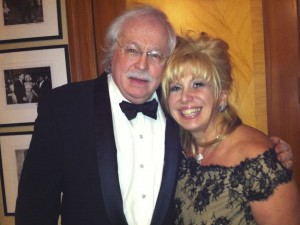 Linda with her husband Dr. Michael Baden getting ready for the New York Emmys
