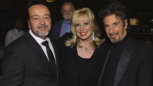 Linda-with-Al-Pacino-and-HBOs-Len-Amato