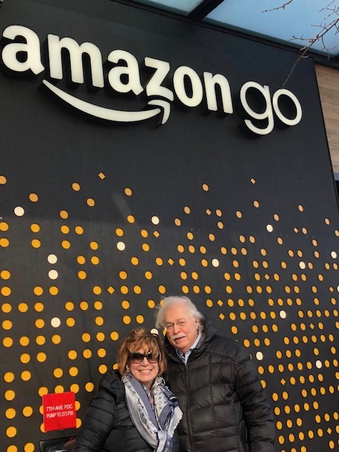 Michael and Linda at Amazon Go